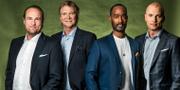 Chris Härenstam, Glenn Strömberg, David Fjäll och Markus Johannesson. Janne Danielsson/SVT