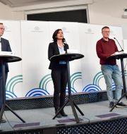Myndigheternas pressträff. Jonas Ekströmer/TT / TT NYHETSBYRÅN