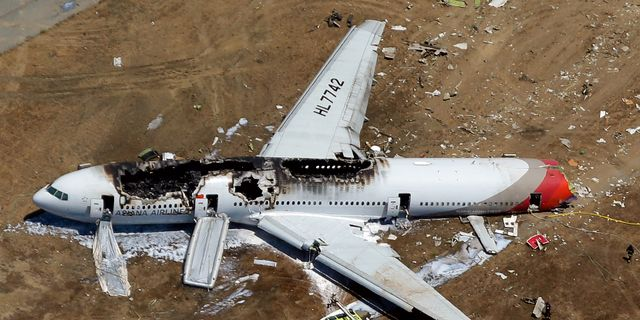 Brandman dodade offer i flygkrasch