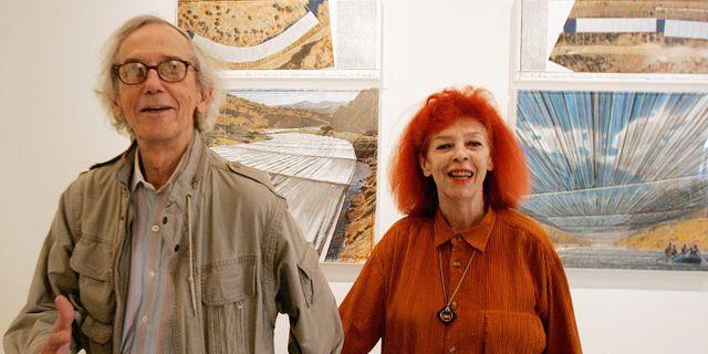 Christo och hustrun  Jeanne-Claude Ed Andrieski / TT NYHETSBYRÅN