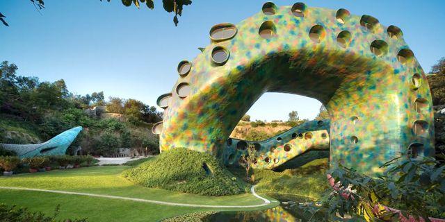 Quetzalcoatl's Nest  ligger i en undanskymd trädgård strax norr om Mexico City. Airbnb / Quetzalcoatl's Nest