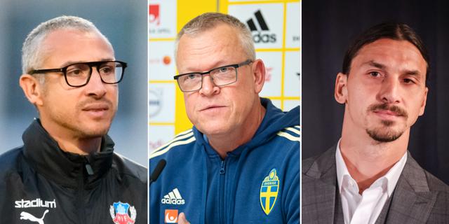 Henrik Larsson, Janne Andersson, Zlatan Ibrahimovic.  Bildbyrån
