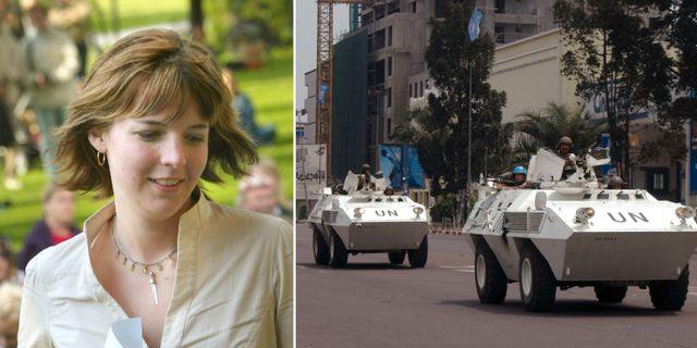 Arkivbilder. Zaida Catalán. FN-trupper i Kinshasa. TT