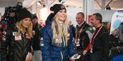 Lindsey Vonn i Åre efter tisdagens tävlingar FABRICE COFFRINI / AFP