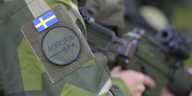 Soldater vid militärövningen Aurora 17. Arkivbild. Jessica Gow/TT / TT NYHETSBYRÅN