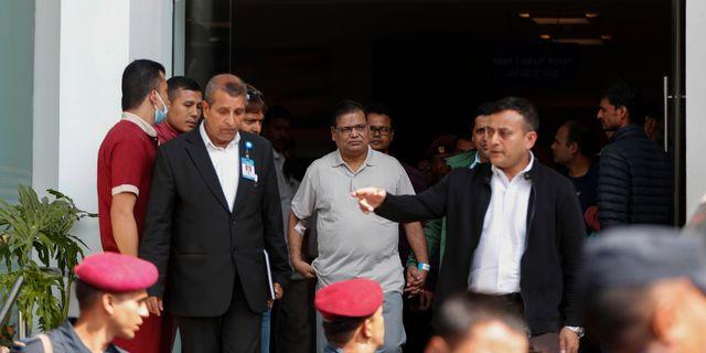 Krishna Bahadur Mahara på väg till domstolen i Katmandu.  Niranjan Shrestha / TT NYHETSBYRÅN