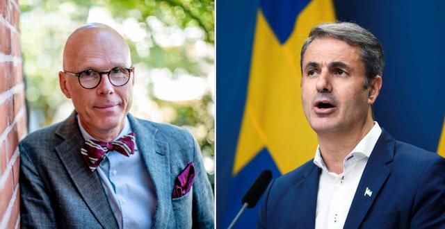 Jonas Hinnfors och Ibrahim Baylan. TT
