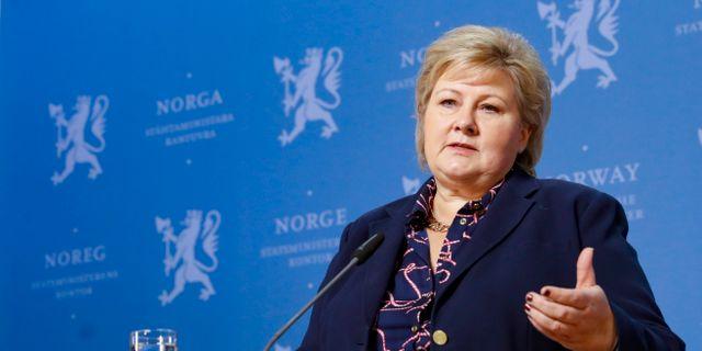 Erna Solberg.  Terje Bendiksby / TT NYHETSBYRÅN