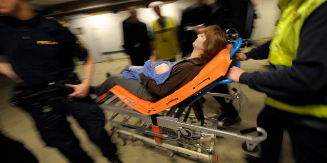 Katastrofövning på Karolinska sjukhuset. Fredrik Sandberg / TT / TT NYHETSBYRÅN