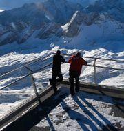 Stängd skidanläggning i Tyskland.  Angelika Warmuth / TT NYHETSBYRÅN