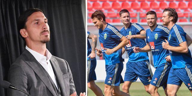 Zlatan, landslaget under dagens träning TT