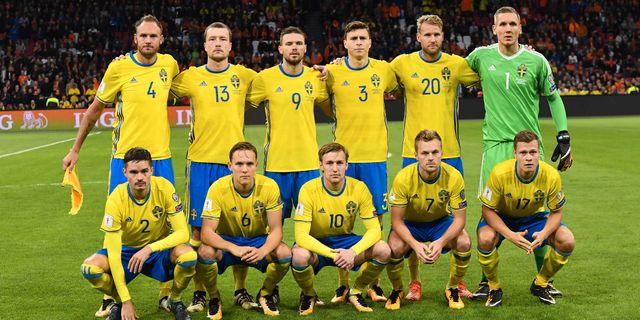 Sveriges startelva mot Nederländerna i o EMMANUEL DUNAND   AFP 397c51d52cdc0