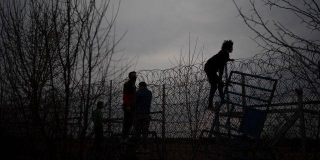 Grekisk-turkiska gränsen. Felipe Dana / TT NYHETSBYRÅN