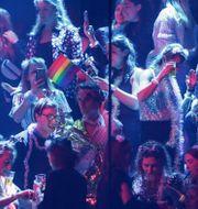 Publik under Eurovisionfinalen.  Peter Dejong / TT NYHETSBYRÅN