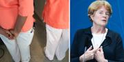 Vårdanställda och Kommissionens ordförande Lise Bergh.  TT