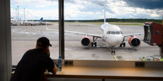 SAS-flyg på Arlanda.  Henrik Montgomery/TT / TT NYHETSBYRÅN