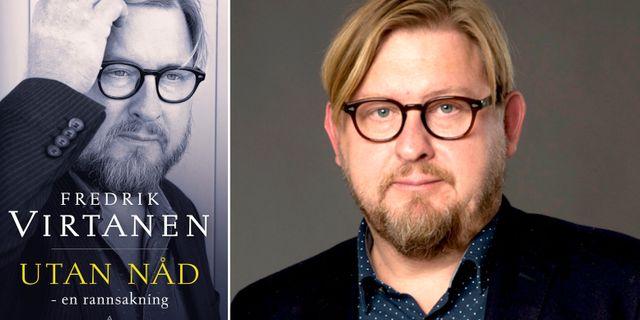 "Fredrik Virtanens bok ""Utan nåd"" släpps i dag.  Gloria forlag / Pressbild"