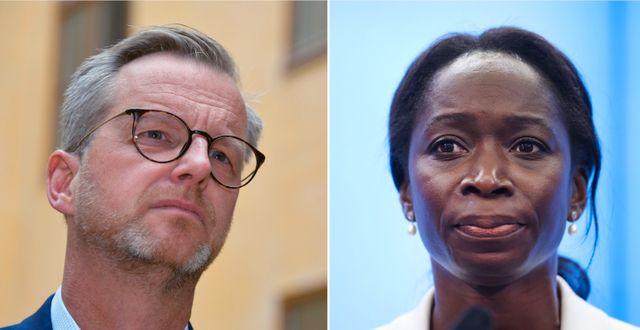 Inrikesminister Mikael Damberg och Liberalernas partiledare Nyamko Sabuni.  TT