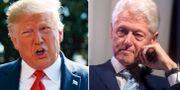 Donald Trump och Bill Clinton. AP