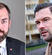 Fredrik Lundh Sammeli (S) och Johan Forssell  (M).  TT