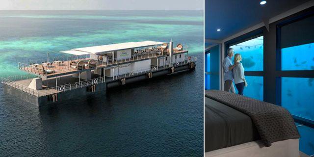 Sov på djupet på Stora Barriärrevets nya hotell, som slår upp i slutet av året. Cruise Whitsundays