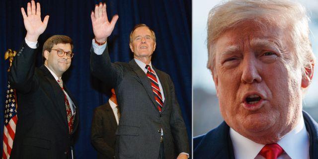 William Barr med George HW Bush/Trump idag. TT
