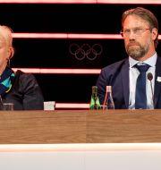 Anette Norberg och Peter Forberg i Lausanne idag. JOEL MARKLUND / BILDBYRÅN