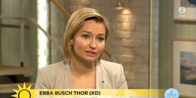 KD-ledaren Ebba Busch Thor. Nyhetsmorgon