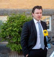 Försvarsadvokaten Johan Ritzer. Stefan Jerrevång/TT / TT NYHETSBYRÅN