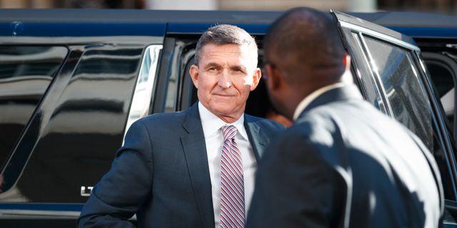 Michael Flynn, tidigare nationell säkerhetsrådgivare hos Donald Trump. Carolyn Kaster / TT NYHETSBYRÅN