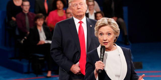 Trump och Clinton under valrörelsen. Arkivbild. Rick T. Wilking / TT NYHETSBYRÅN