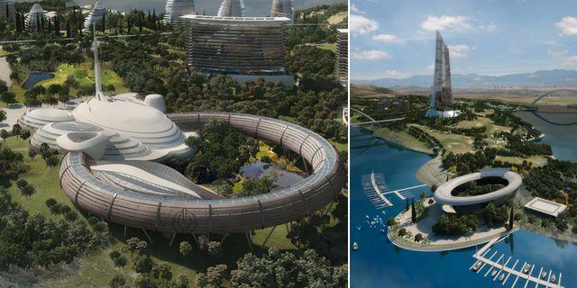Elysium City, 17 mil sydväst om Madrid, ska bli Europas första hållbara stad. Cora Alpha