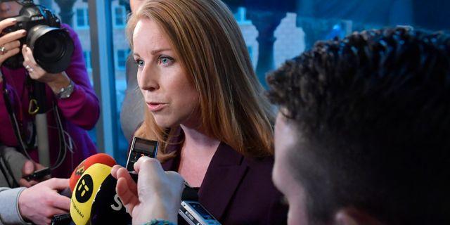 Annie Lööf i riksdagen tidigare i veckan. Anders Wiklund/TT / TT NYHETSBYRÅN