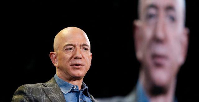 Arkivbild: Amazons grundare Jeff Bezos.  John Locher / TT NYHETSBYRÅN