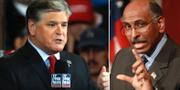 Fox News Sean Hannity och MSNBC:s Michael Steele. TT
