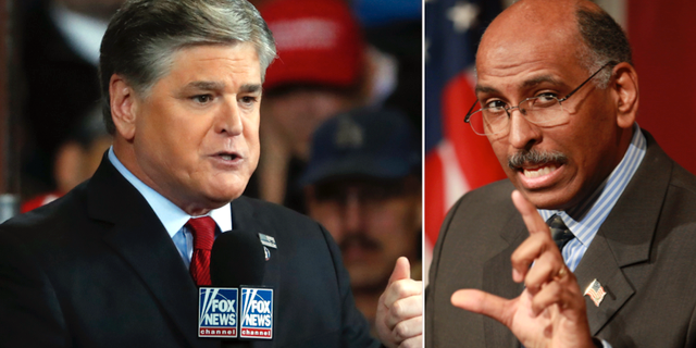 Fox News Sean Hannity och MSNBC:s Michael Steele. TT