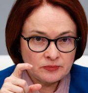 Ryska centralbankschefen Elvira Nabiullina. Shamil Zhumatov / TT NYHETSBYRÅN