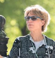 En bild på Jamal Khashoggi och FN-experten Agnes Callamard.  TT