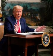 Donald Trump i Vita huset på thanksgiving Patrick Semansky / TT NYHETSBYRÅN