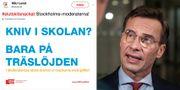 SSU och LO gör parodi på Stockholmsmoderaternas kampanj. SSU på Twitter/TT