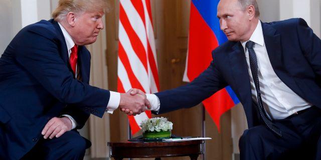 Trump och Putin i Helsingfors. Pablo Martinez Monsivais / TT NYHETSBYRÅN/ NTB Scanpix