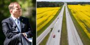 Stefan Löfven/Bilväg.  TT