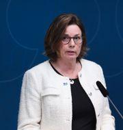 Vice statsminister samt klimat- och miljöminister Isabella Lövin (MP). Erik Simander / TT / TT NYHETSBYRÅN