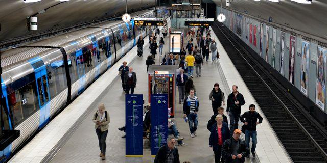 Tunnelbanan i Stockholm/arkivbild.  Tomas Oneborg / SvD / TT / TT NYHETSBYRÅN