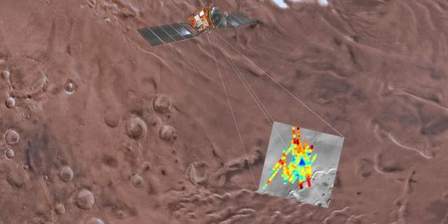 Den blå triangeln indikerar vatten. TT / NTB Scanpix / Davide Coero Borga / INAF / ESA via AP.