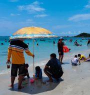 Strand i thailändska Chonburi/Arkivbild Penny Yi Wang / TT NYHETSBYRÅN
