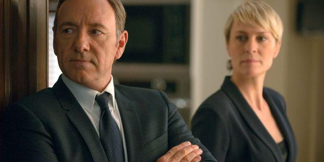 "Kevin Spacey och Robin Wright som Francis och Clair Underwood i ""House of Cards"" Nathaniel E. Bell / TT / NTB Scanpix"