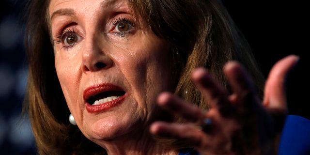 Demokraten Nancy Pelosi, representanthusets talman. KEVIN LAMARQUE / TT NYHETSBYRÅN
