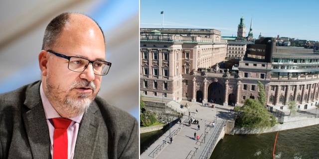 LO:s ordförande  Karl-Petter Thorwaldsson.  TT