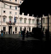Regeringshögkvarteret i Rom. Alessandra Tarantino / TT NYHETSBYRÅN